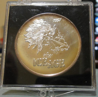 1997 Mobile Order of Inca Mardi Gras .999 Silver Doubloon~THE ICE AGE~UNC