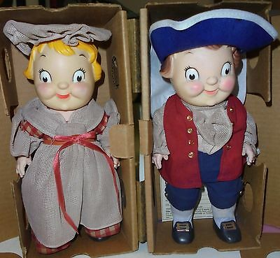 Pair Of Campbell Soup Large Colonial Kids Dolls - Boy & Girl In Box