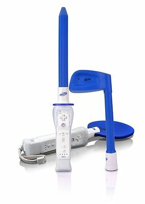 Brand New NERF WII Sports Plus RESORT PACK Blue ~ Golf, Table Tennis, Fencing