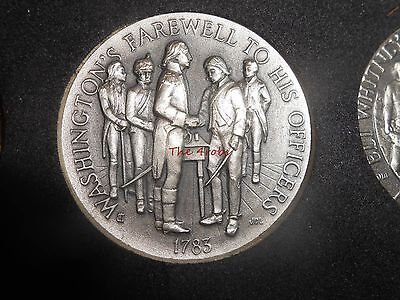 Longines Symphonette Sterling Silver Medal Washington's Farewell to His Officers