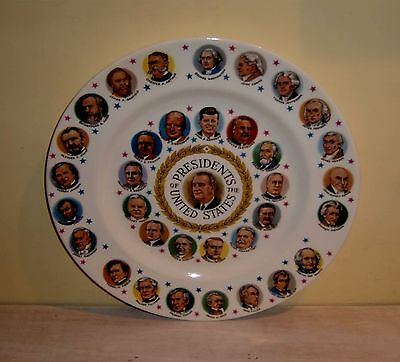 Presidential CAKE PLATE US President Portrait Historical Election China Vintage