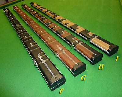 """1pc Patchwork Halo Snooker Cue cases by Peradon - Holds 2 x cues to 59.5"""" *NEW*"""
