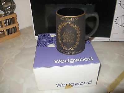 Wedgwood Black Basalt Prince Of Wales Mug Boxed