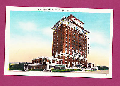 North Carolina - Asheville, Battery Park Hotel Postcard 2817