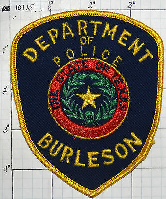 Texas, Burleson Police Dept Patch
