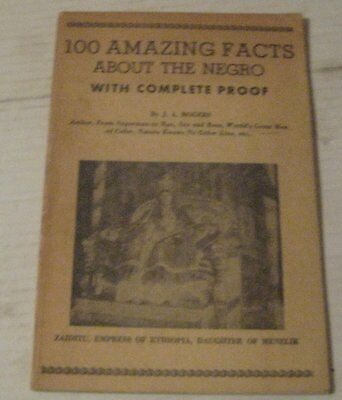 VINTAGE 100 Amazing facts about the Negro w/proof book 1957