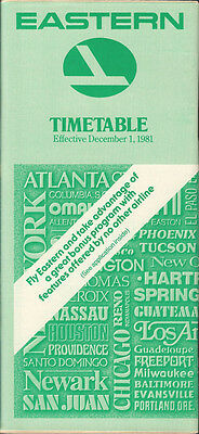 Eastern Airlines system timetable 12/1/81 (Buy 2 get 1 free)