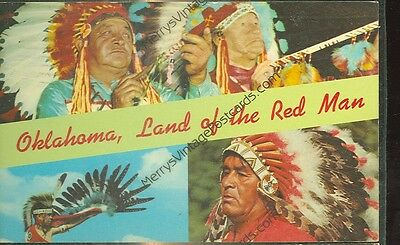 Oklahoma-Land Of The Red Man-1969-Multi-View-(Indian-346)