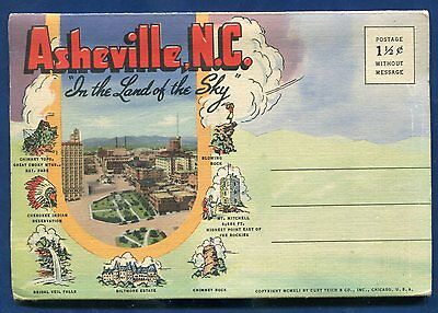 Asheville North Carolina 1940s postcard folder #1