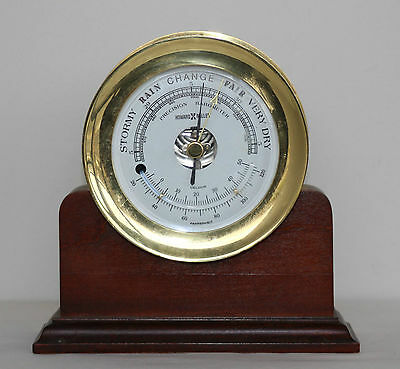 Howard Miller Brass Ship Barometer And Thermometer With Stand 613-532 Retired