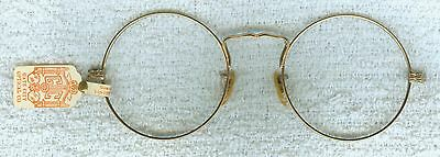 Antique Victorian Glasses Frames Only Org Gate City Optical Tag 1/10 12K G.F.