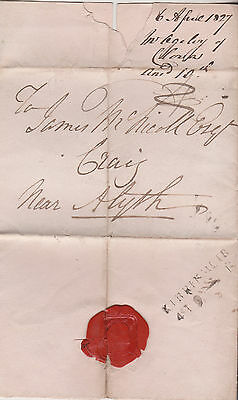 1827 PRE-STAMP WRAPPER BY OGILVY OF CLOVA TO JAMES McNICOLL AT CRAIG BY ALYTH