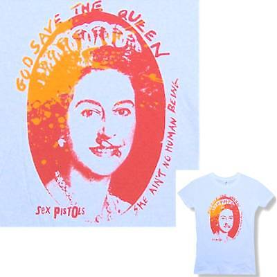 Sex Pistols! God Save The Queen Wht Baby Doll Girls T-Shirt Medium New