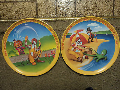 Pair of Collectable Ronald McDonald Plates.