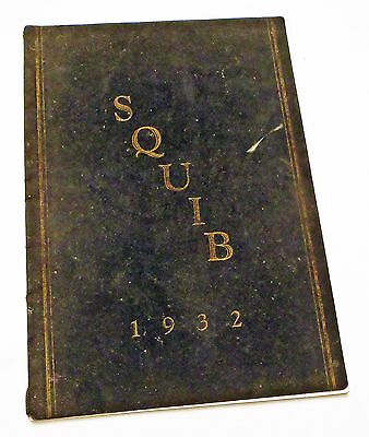 1932 Shelbyville High School Indiana Squib Yearbook / Signed Signatures