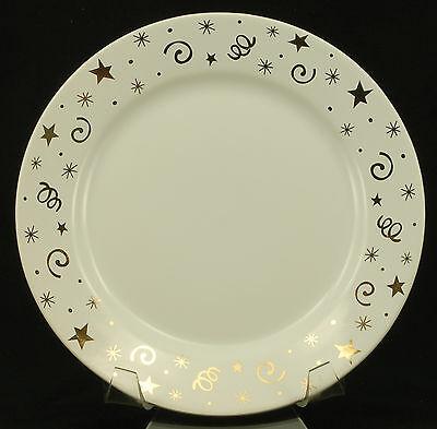 Pampered Chef PPF4 Gold Confetti Salad Plate VGC