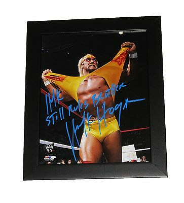 Wwe Hulk Hogan Signed 8X10 Autographed Framed Photo With Picture Proof And Coa 2