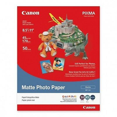 "Canon Photo Paper - 50 sheet pack - 8.5"" x 11"" - Matte - White - FACTORY SEALED"