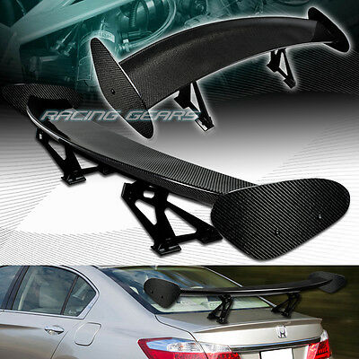"""51"""" Dragon-4 Style Real Full Carbon Fiber Rear Trunk Gt Spoiler Wing Universal"""