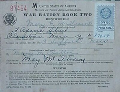 1942 War Ration Book W/ 48 Stamps