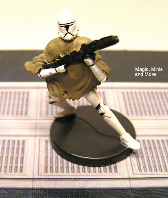 The Clone Wars ~ HEAVY CLONE TROOPER #14 Star Wars miniature  WotC