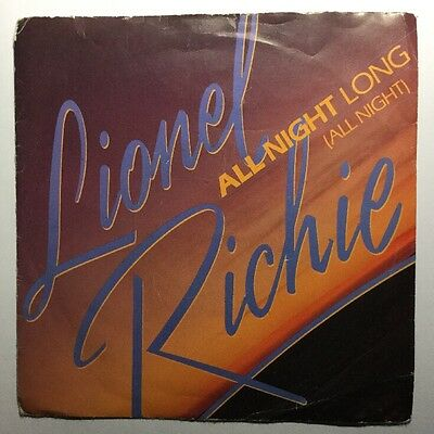 Lionel Richie - All Night Long - 7' Inch Single 45 RPM Vinyl Record