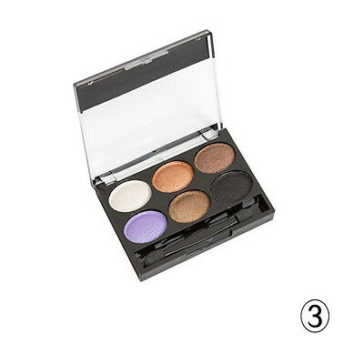Fashion Makeup Eye Shadow Professional Shimmer CosmeticsPalette 6Colors 1Set