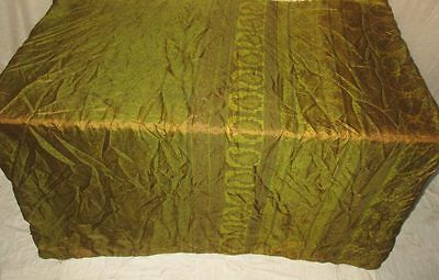 Pure silk Antique Vintage Sari Saree Fabric REUSE 4y 16dgi 6d07 Brown #ABCRC