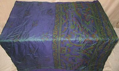 Pure silk Antique Vintage Sari Saree Fabric REUSE 4y 16dgi 6d06 Magenta #ABCQL