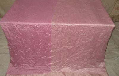 Pure silk Antique Vintage Sari Saree Fabric REUSE 4y 16dgi 6d02 Pink #ABCNG