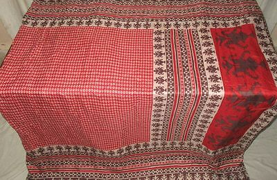 Pure silk Antique Vintage Sari Saree Fabric REUSE 4y 16dgi 6d05 Red #ABCPL