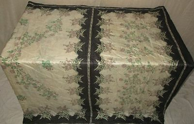 Pure silk Antique Vintage Sari Saree Fabric REUSE 4y 16dgi 6d07 Off-white #ABCR3
