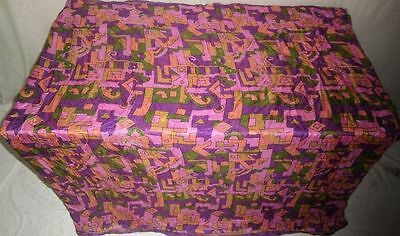 Pure silk Antique Vintage Sari Saree Fabric REUSE 4y 16dgi 6d07 Purple #ABCQR