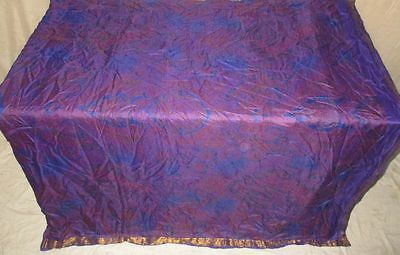 Pure silk Antique Vintage Sari Saree Fabric REUSE 4y 16dgi 6d07 Blue Pink #ABCRF