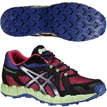 Asics Gel FujiTrainer 3 Ladies Trail Off-road Fell Running Training Shoes Red