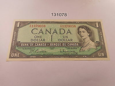 1954 Ottawa One Dollar Currency - Bank of Canada Note - Very Nice - # 131078