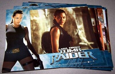 Angelina Jolie TOMB RAIDER color Lobby Cards