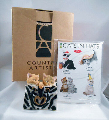 MIB Country Artists Kittens in Bag Wild Things 03508