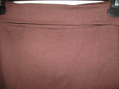 New misses knit YOGA SKIRT xlarge 16/18 brown coverup swimsuit cover up