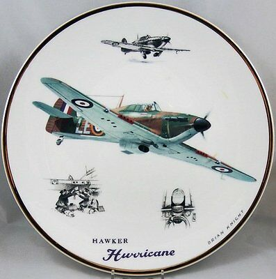 Large Legends of the Sky WWII Plane Plate Hawker Hurricane