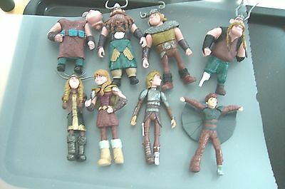 8 Small Viking Action Figures