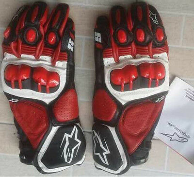 Red Alpinestars #151 Motorcycle Gloves Size M