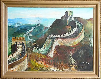 original wall of China oil painting on canvas Chinese Painting