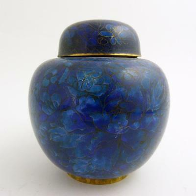 Chinese Cloisonne Ginger Jar And Cover