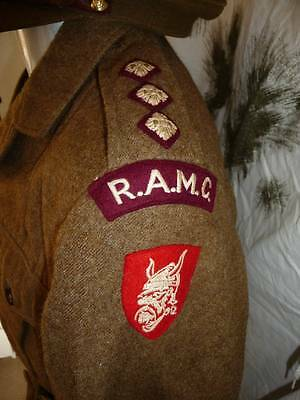 British Army Ramc Officers Battledress, Officers Cap. East Anglian District Viki