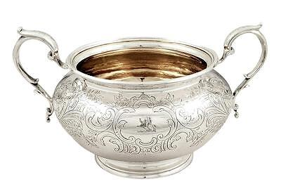 Antique Victorian Sterling Silver 2 Handle Bowl - 1844
