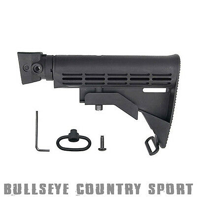 Cyma Airsoft C.56 Stock M-Series Style For AK Models Black Polymer