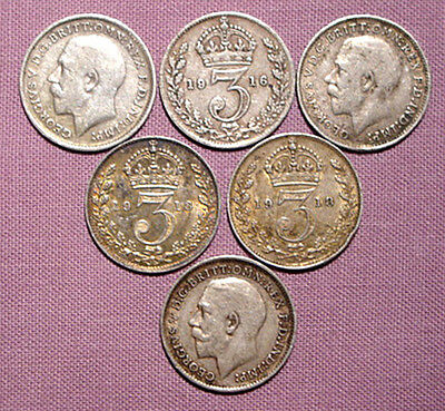SILVER FOR THE CHRISTMAS PUDDING - King George V Silver Threepence - FREE P&P
