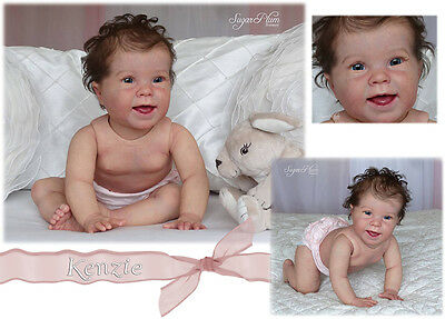 Reborn Doll Kit Kenzie Crawler With Torso& Body X Donna Rubert Eyes Not Included