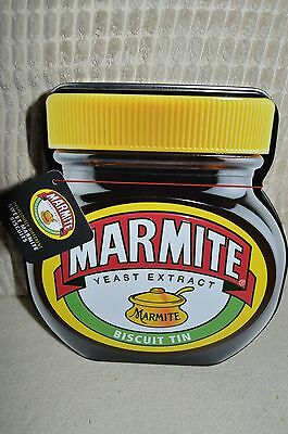 Marmite Shaped Biscuit Tin with All Butter Marmite Flavour Biscuits New  Sealed